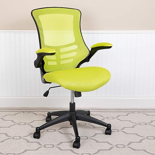 EMMA OLIVER Mid-Back Green Mesh Swivel Ergonomic Task Office Desk Chair