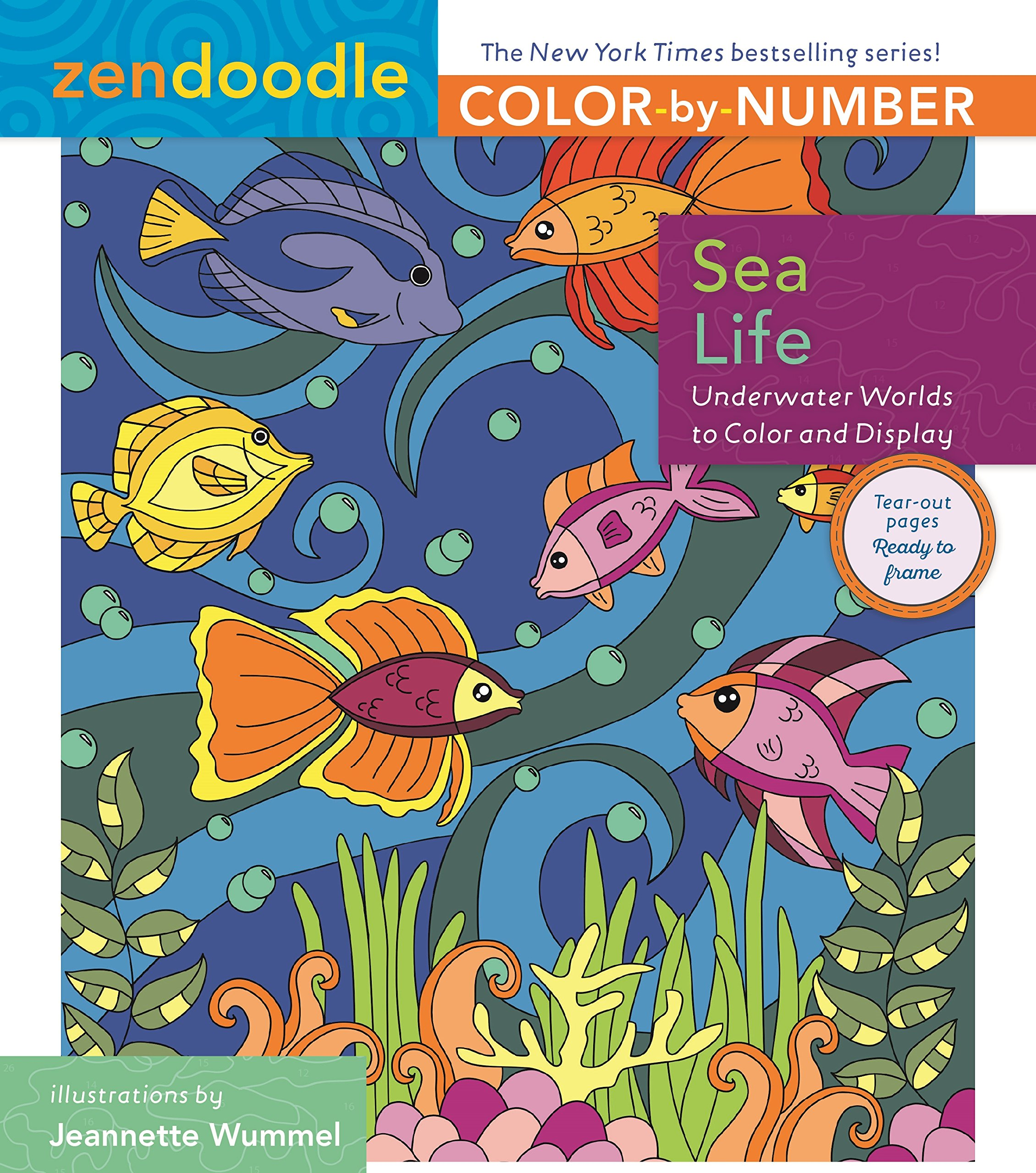 Zendoodle coloring enchanting gardens - Zendoodle Color By Number Sea Life Underwater Worlds To Color And Display Amazon Co Uk Jeanette Wummel 9781250140746 Books