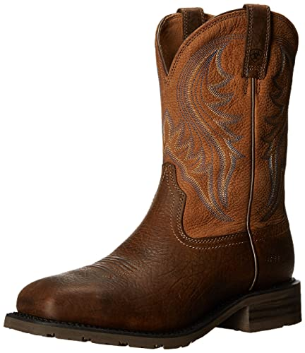 Ariat Men's Hybrid Rancher Steel Toed Work Shoe,Earth/Dry Well Tan,11.5