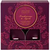 Shearer Candles Frankincense and Myrrh (Pack of 8) Scented Tealights - Burgundy