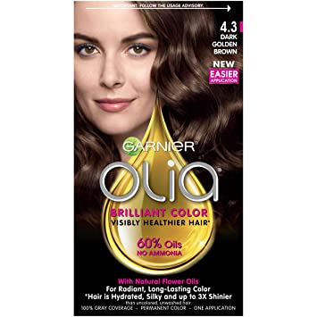 Amazon Com Garnier Olia Hair Color 4 3 Dark Golden Blonde Ammonia