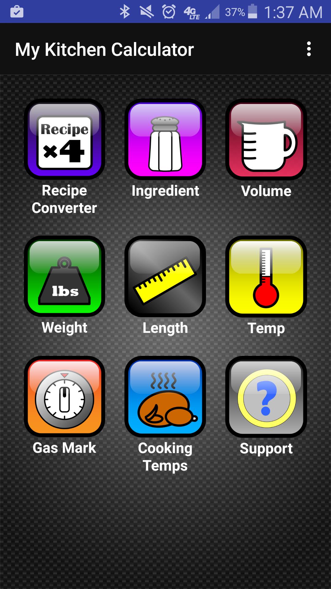 Amazon.com: Kitchen Calculator (Converter)   MyKitchenCalculator.com:  Appstore For Android