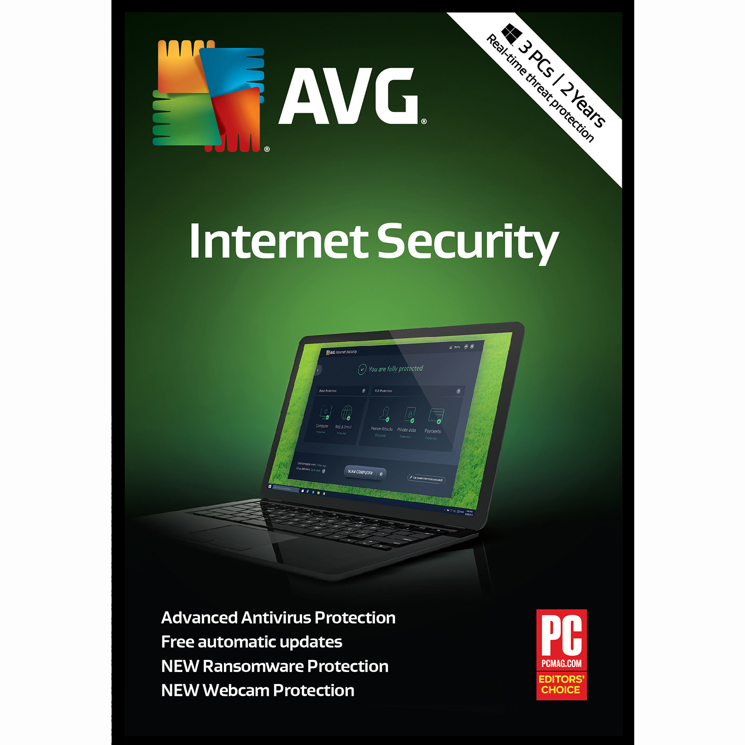 AVG Internet Security 2018, 3 PCs 2 Years [Online Code]