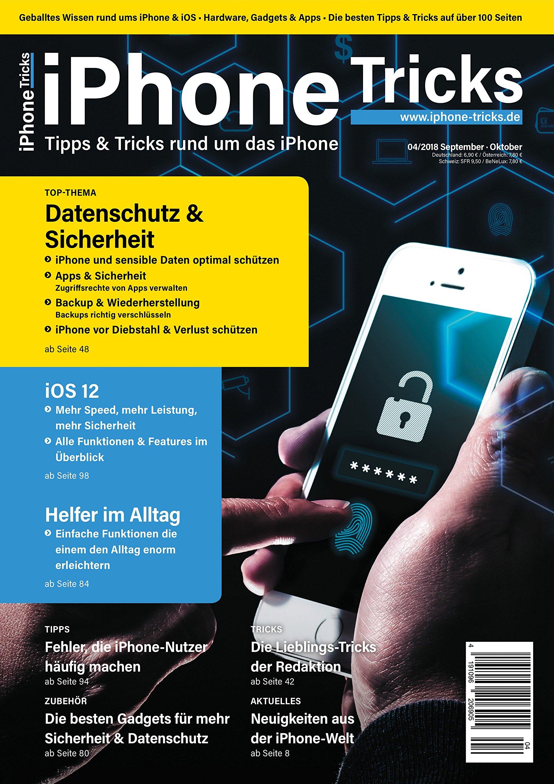 iPhone-Tricks.de Magazin Ausgabe 4/2018 - Das fehlende iPhone Handbuch mit Anleitungen für Einsteiger, Dummies, Fortgeschrittene und Senioren Broschiert – 27. Juli 2018 B074SK8L73