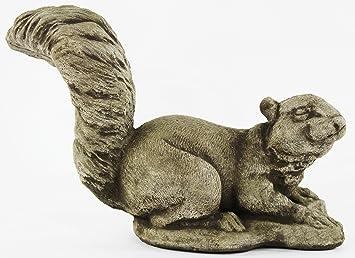 Amazon squirrel decorative concrete statue cement garden squirrel decorative concrete statue cement garden statue figure cast stone sculpture outdoor animal statue workwithnaturefo