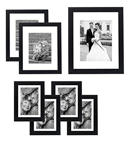Amazon.com - Americanflat 7 Pack Gallery Wall Set - Includes: One ...