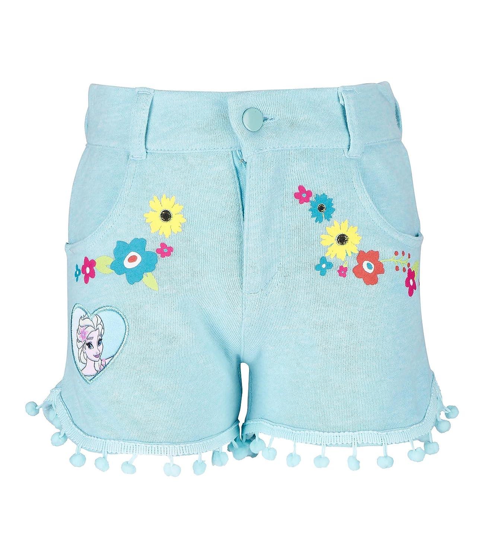 Light Blue Disney Frozen Elsa /& Anna Girls Shorts