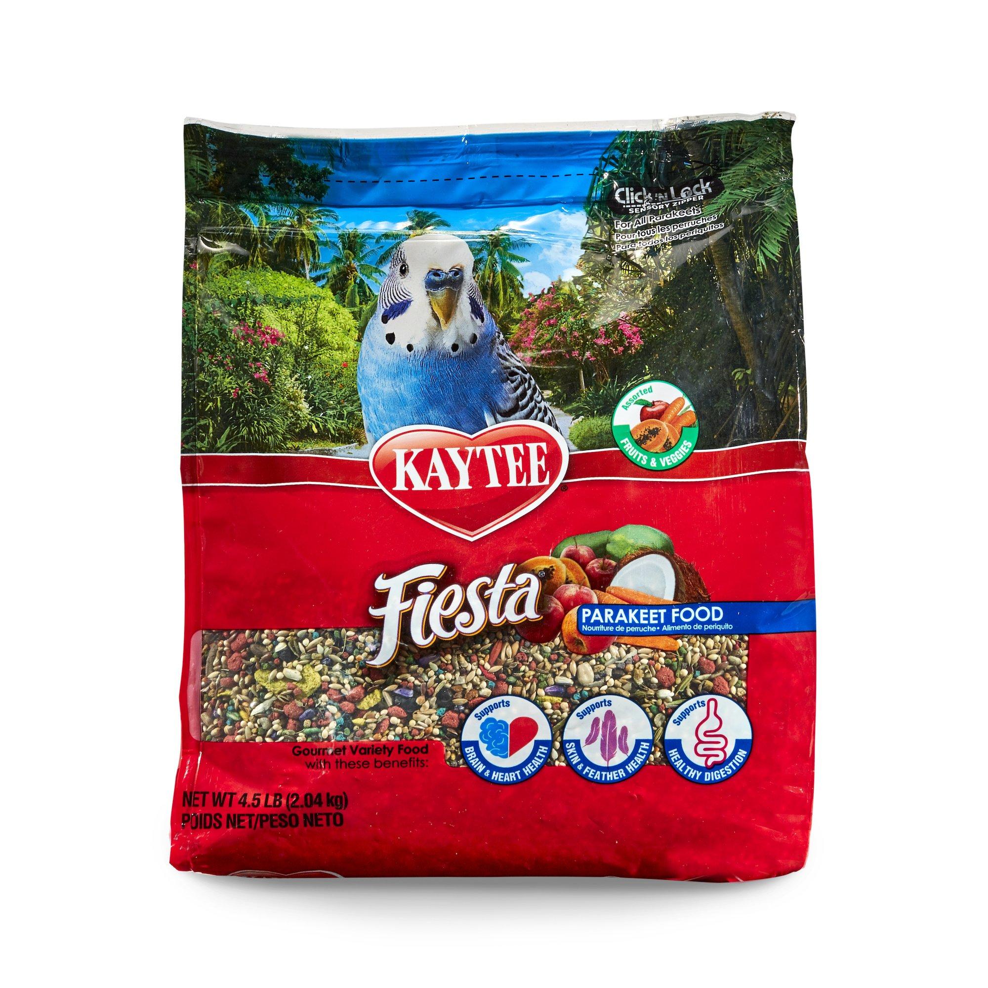 Kaytee Fiesta Parakeet Food, 4.5 pounds