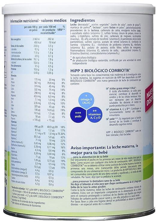 HIPP COMBIOTIK 2 LECHE CONTINUACION 800G: Amazon.es: Alimentación y bebidas