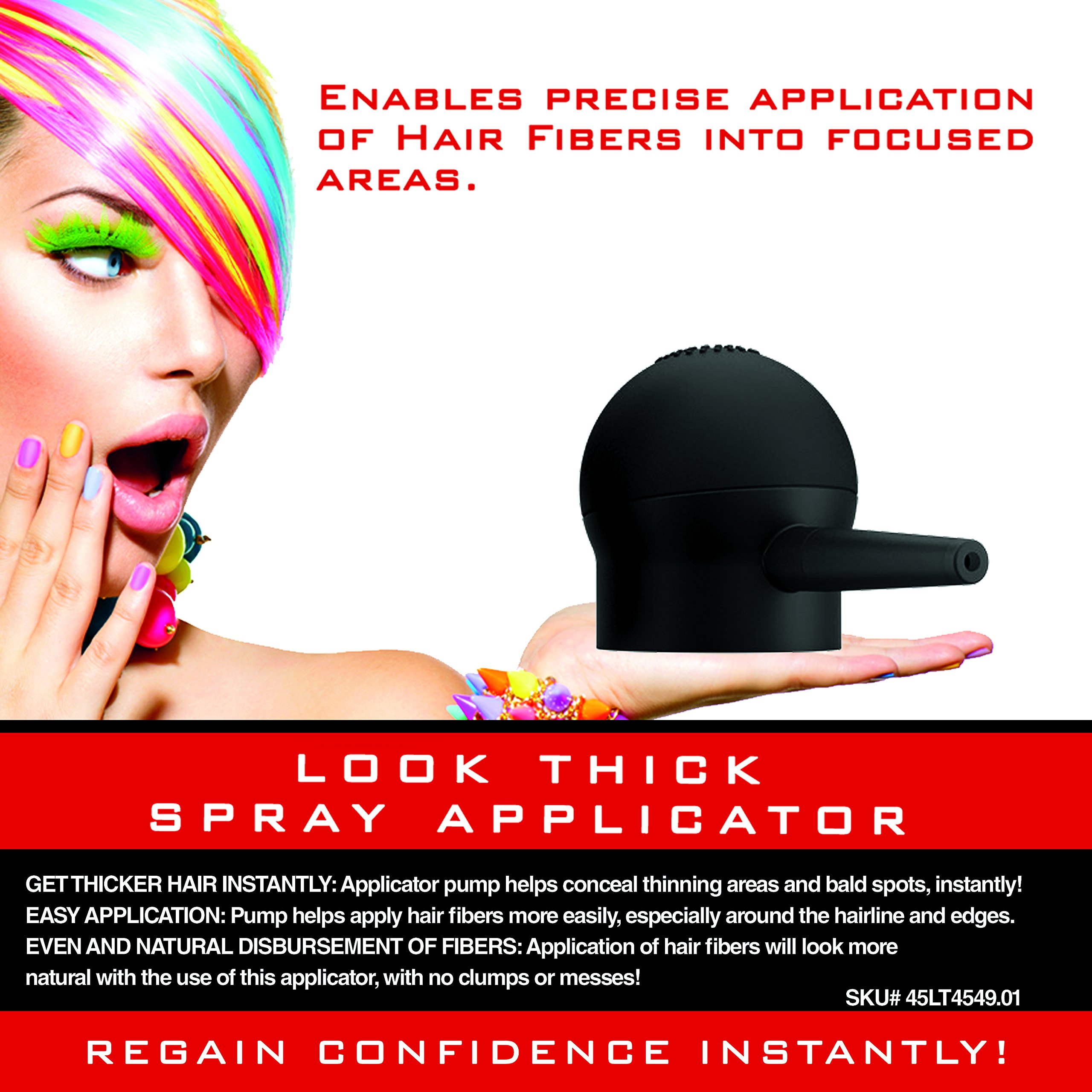 Hair Fiber Spray Applicator Pump by LOOK THICK by LOOK THICK