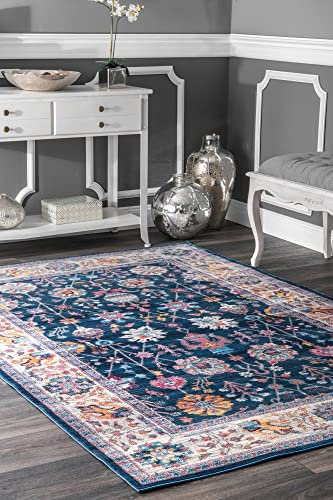 nuLOOM Classic Tinted Floral Area Rug, 7 10 x 10 10 , Blue