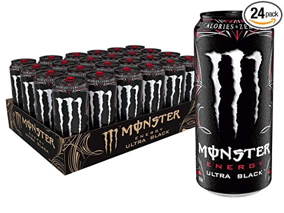 Monster Energy Ultra Black Sugar Free Energy Drink 16 Ounce Pack Of 24 Amazon Com Grocery Gourmet Food