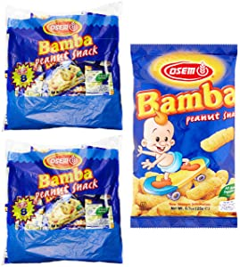 Bamba Peanut Snacks for Babies - All Natural Baby Peanut Puffs 2 Family Packs (Pack of 16 x 0.7oz Bags) - Peanut Butter Puffs made with 50% peanuts