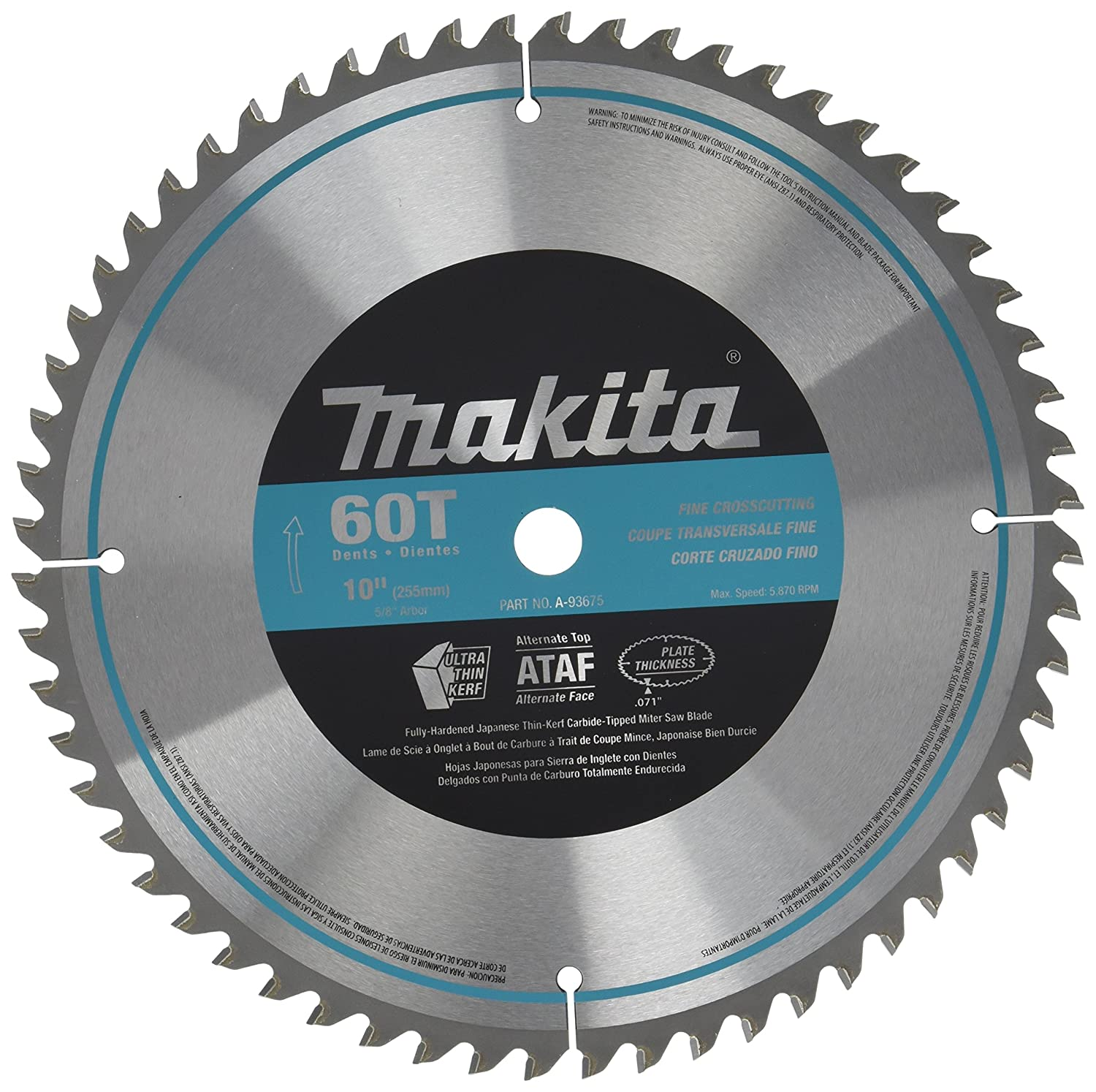 Makita a 93675 10 inch 60 tooth micro polished mitersaw blade makita a 93675 10 inch 60 tooth micro polished mitersaw blade miter saw blades amazon greentooth Choice Image