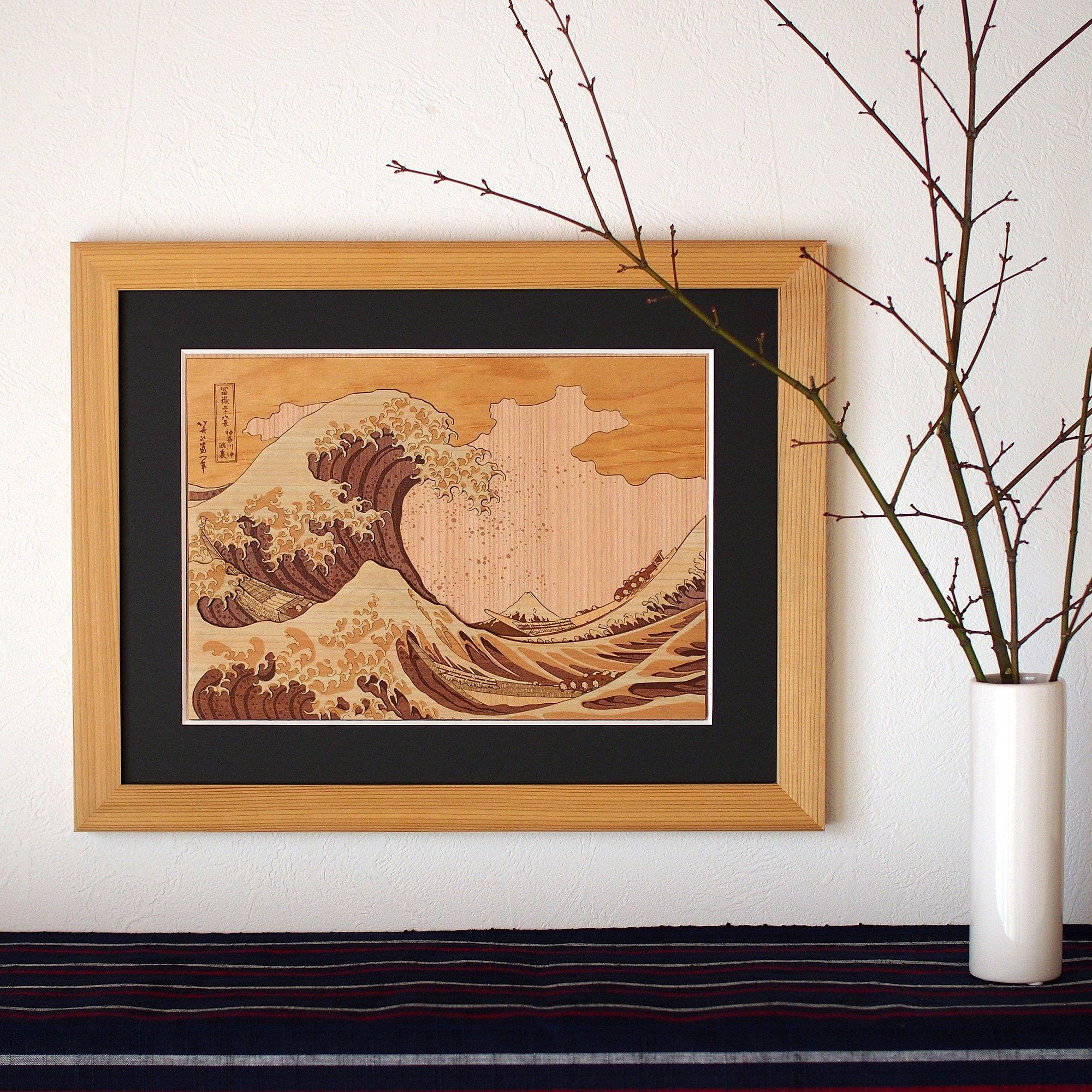 KINOWA Ukiyoe Art Kit Kiharie The Great Wave Off Kanagawa Thirty-six Views of Mount Fuji by Hokusai Made in Japan by KINOWA (Image #4)
