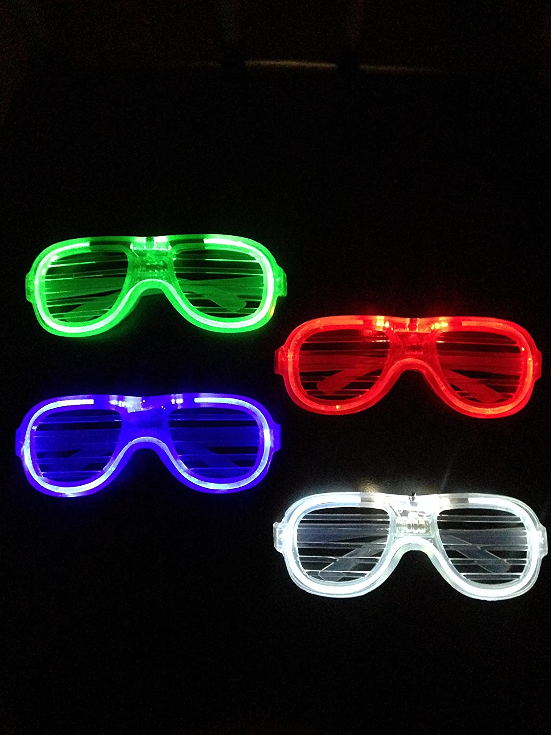 (2 Pack) Rockstar LED Flashing & Light-Up Shades - Funny Amazing Cool Glasses Multicolor Eyewear Props for Clubs Parties & Festivals - [Multicolor Mixed Pack] WilliamsOnline