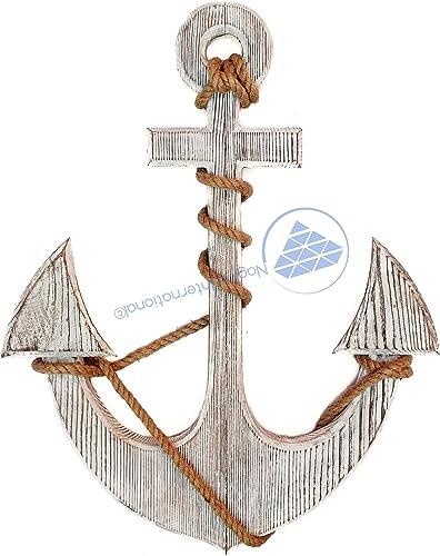 Nagina International Premium Pine Nautical Antique Colored Sailor's Decor Anchor