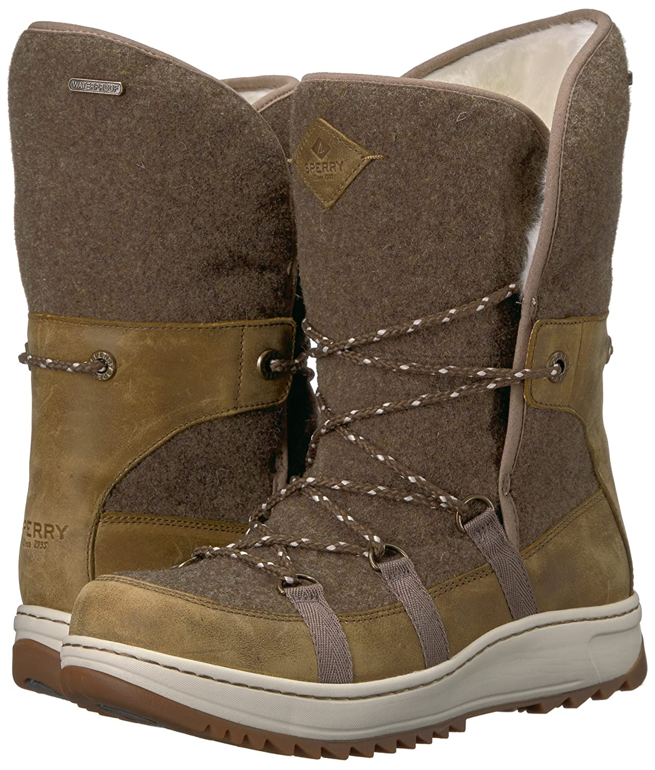 Sperry Cap Top-Sider Women's Powder Ice Cap Sperry Snow Boot B01N6IYWW4 5 B(M) US|Olive a93634