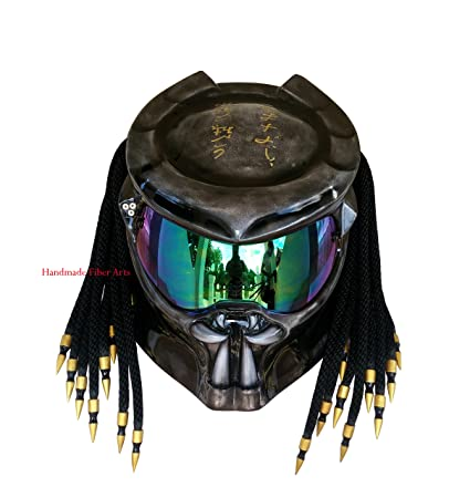 Amazon Com Hat 34 Custom Predator Motorcycle Helmet Sports Outdoors