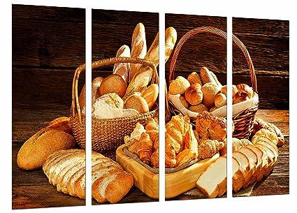 Poster Moderno Fotografico Variedad de Panes, Panaderia, Pasteleria, Pan, 131 x 62