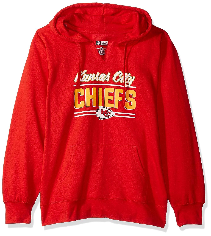 NFL womens Chiefs Fleece Pull Over Notch Hood