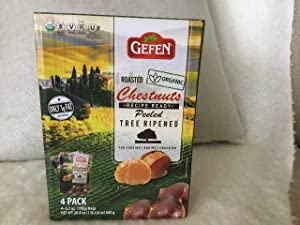 Roasted Organic Chestnuts (4 Pack -5.2 oz. Bags) 20.8 oz.