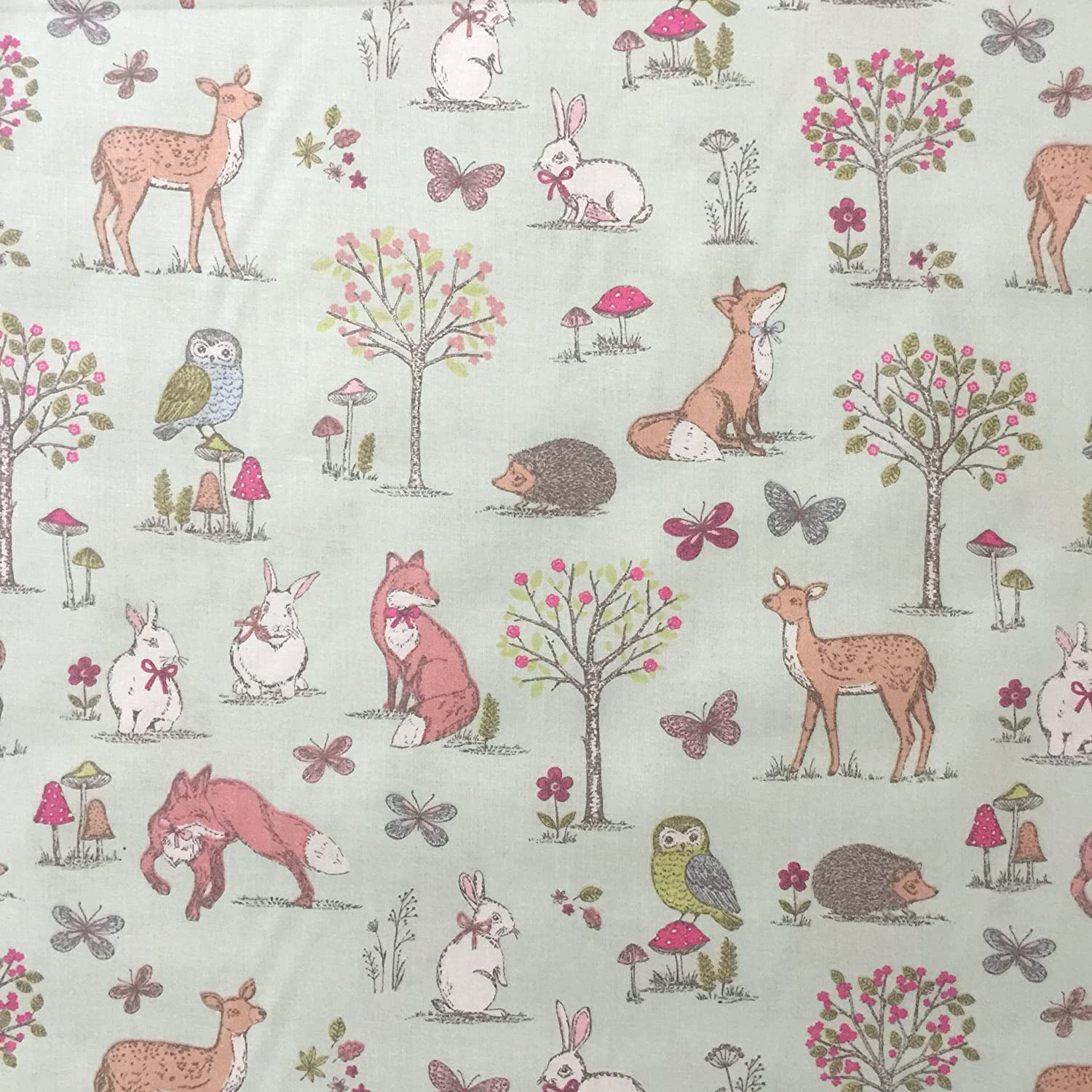 Children s woodland curtains curtain menzilperde net for Curtain fabric for baby nursery