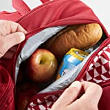 VonShef 4 Person Geo Red Outdoor Picnic Backpack