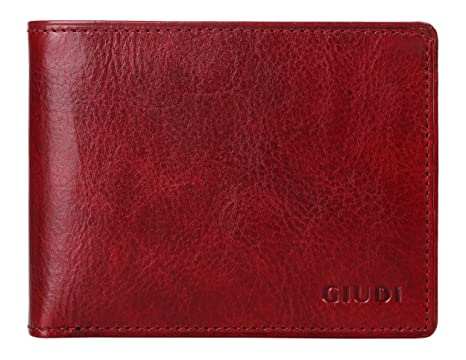 6ed2938b9359 Giudi Deluxe Comfortable Bifold Men's Wallet Made in Italy – 12 Business  Credit Card Holder – ID Window - Soft Touch Genuine Cow Leather - Excellent  ...