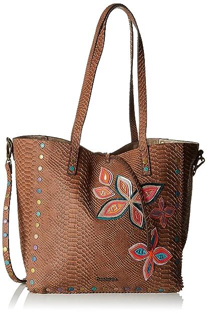 Bols_fly Patch Portland Womens Shoulder Bag Beige (Camel) 16x29x30 cm (B x H x T) Desigual ppj41