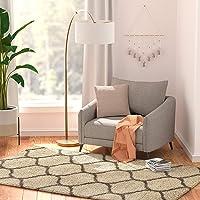 Deals on AmazonBasics Modern Plush Moroccan Trellis Shag Area Rug 5x8-ft