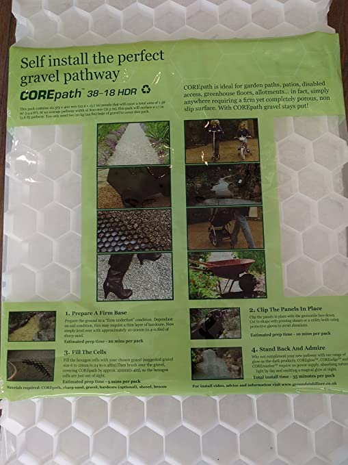 Amazoncom Core Path Gravel Pathway Stabilizer Grid With Attached