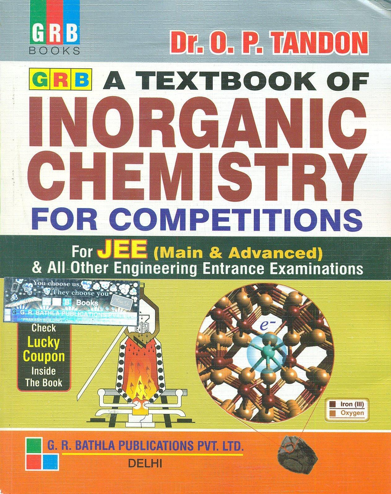 jee iit chemistry books for inorganic