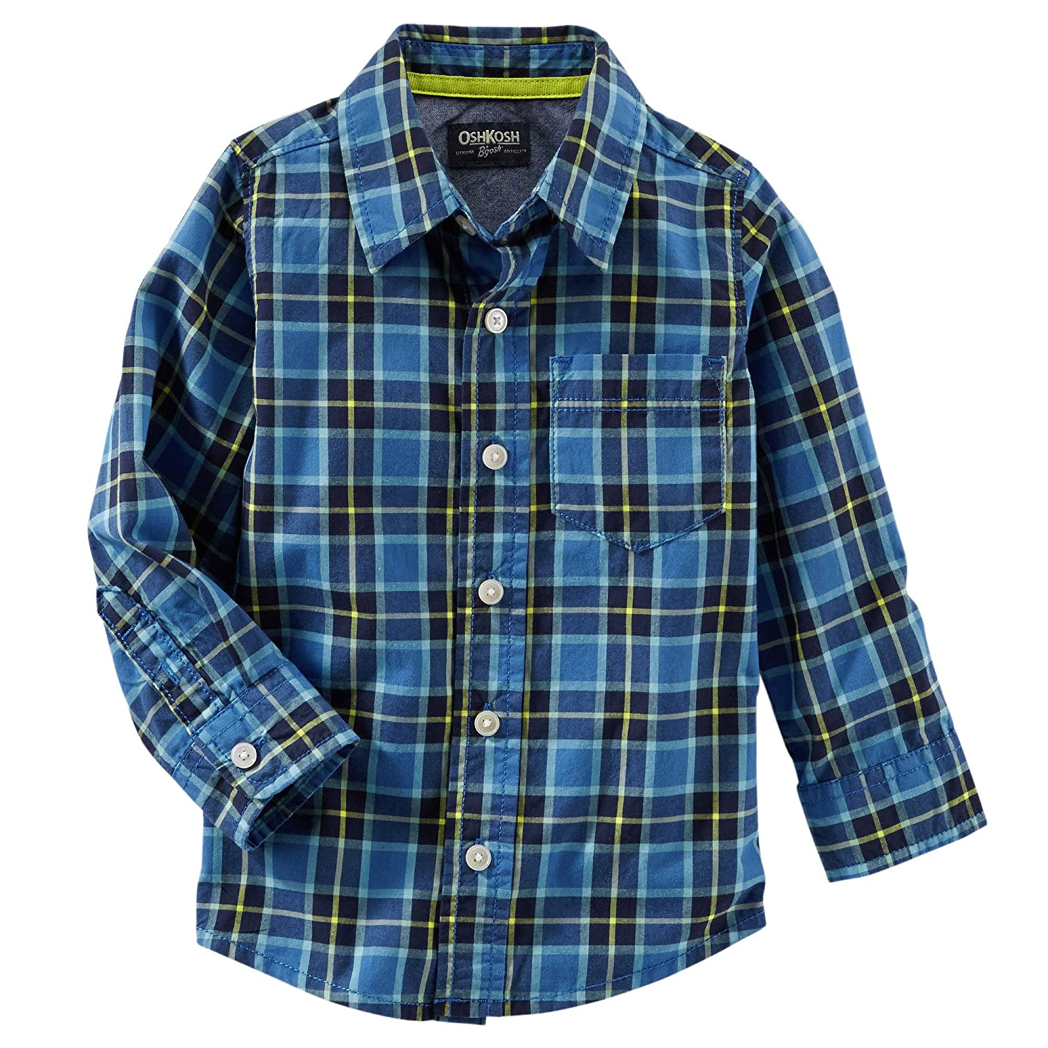 OshKosh Baby Boy's Plaid Button-Front Shirt