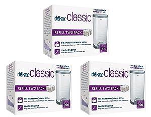 Diaper Dekor Classic Diaper Pail Liner Refills, 3 Pack