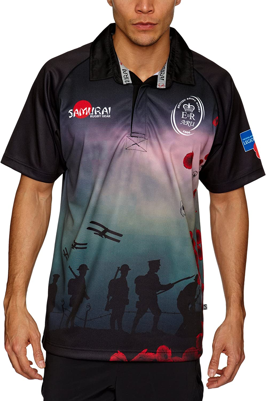SAMURAI - Camiseta de Rugby para Hombre, tamaño S, Color Negro: Amazon.es: Ropa y accesorios