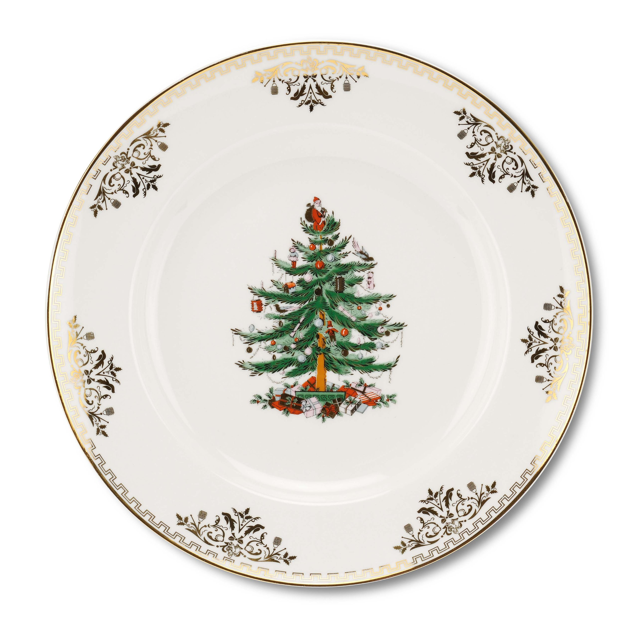 Spode Christmas Tree Gold Salad Plate, Set of 4
