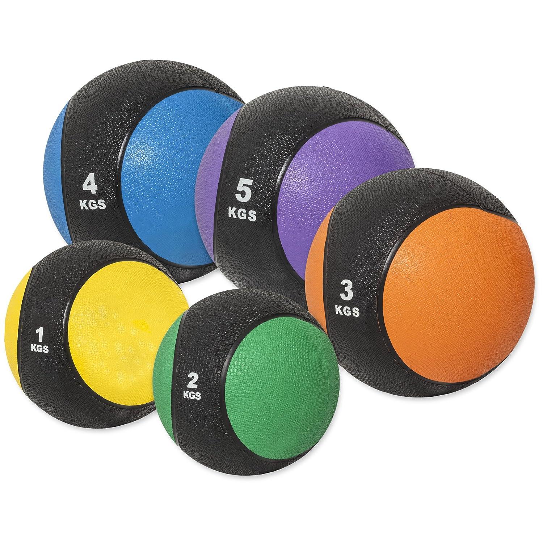 GORILLA SPORTS® Medizinball Gummi 1-10 kg – Fitnessball Einzeln Set in 10 Farb- und Gewichtsvarianten