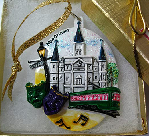 Amazon Com Copperfancy Llc New Orleans Christmas Ornament French