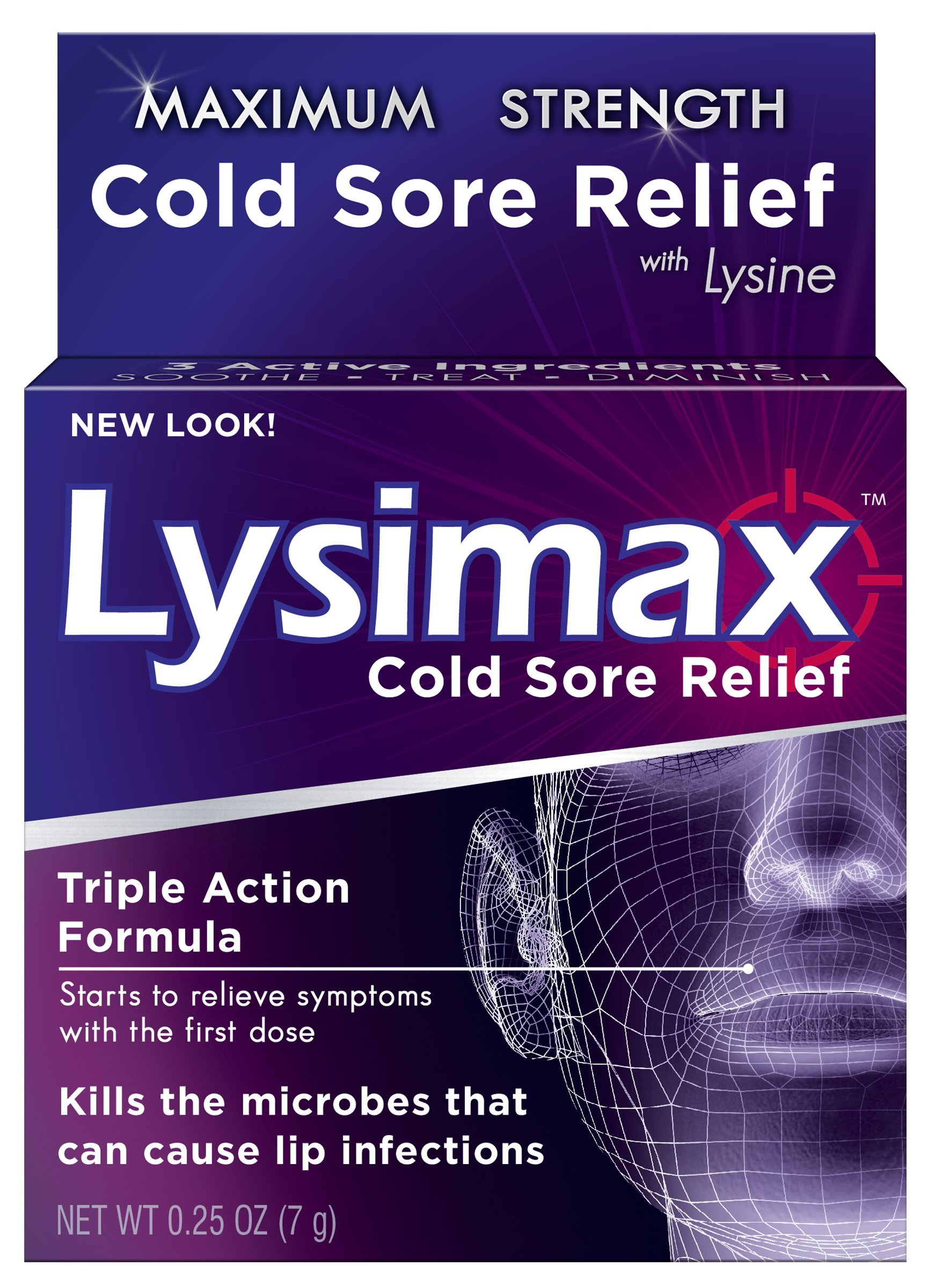 Lysimax Cold Sore Relief Gel, 0.25 Ounce