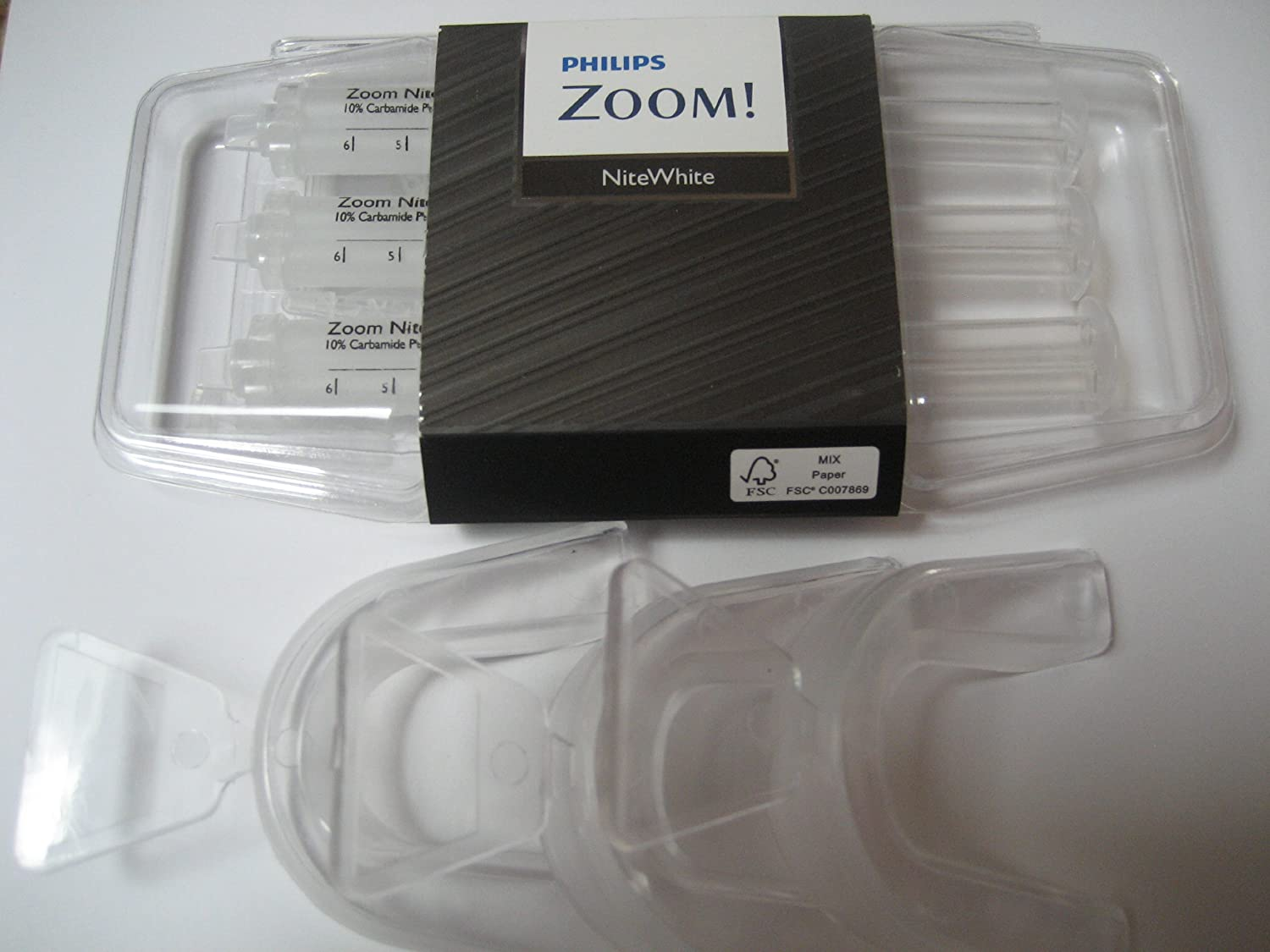 NiteWhite Zoom 22 Mint Three Syringes 2.4 ml with Three Theromform Trays