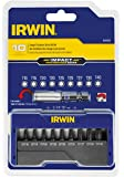 IRWIN Tools 1899926 Impact Performance Series Insert Bit Set, Assorted Torx, 1-Inch Length, 10-Piece