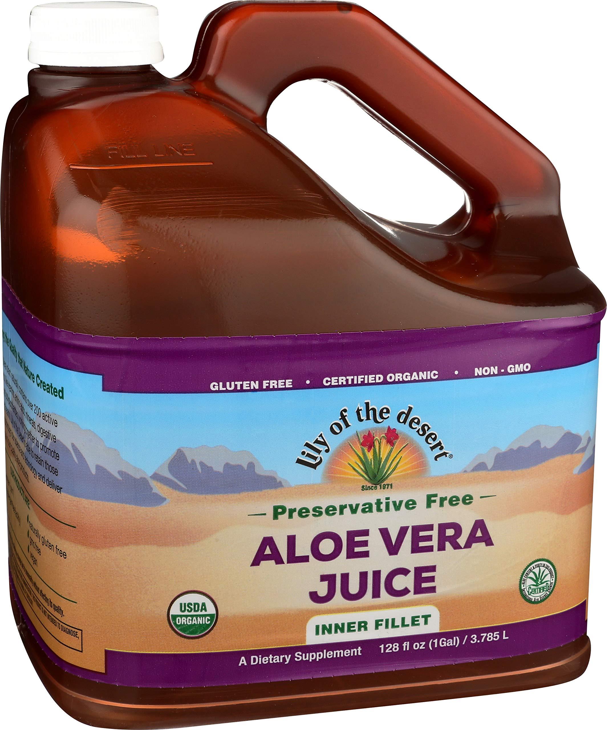 Lily of the Desert Aloe Vera Juice, No Preservatives, Inner Fillet, 128 Ounces