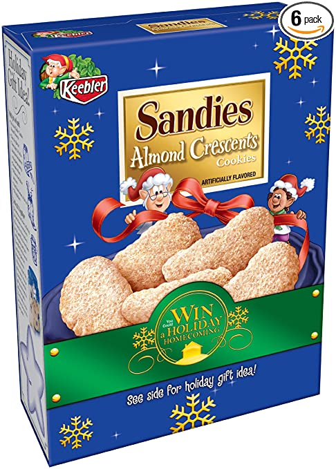 Amazon.com: Keebler Holiday Sandies Almond Crescents, 11-Ounce ...