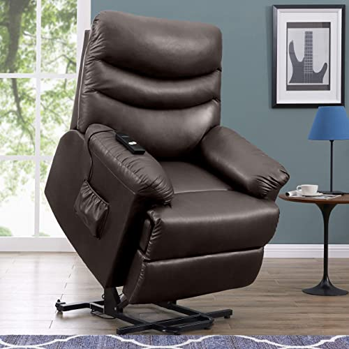 ProLounger Leather Power Lift and Reclining Living Room Chair
