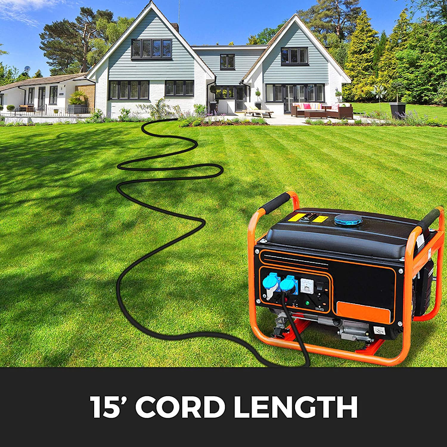 Generator Extension Cord 40Ft 10//4 Power Cable 30 Amp Adapter Plug Copper Wire