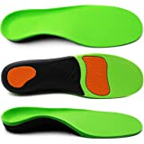 ERGOfoot Arch Supports Orthotic Insoles for Flat Feet Fight Against Plantar Fasciitis,Relieve Pronation Heel Ankle Foot Pain for Women Men [M]