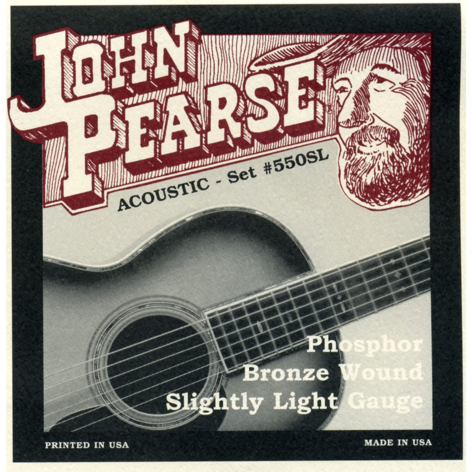 John Pearse 550SL Phosphor Bronze Acoustic Guitar Strings - Slightly Light 11-50