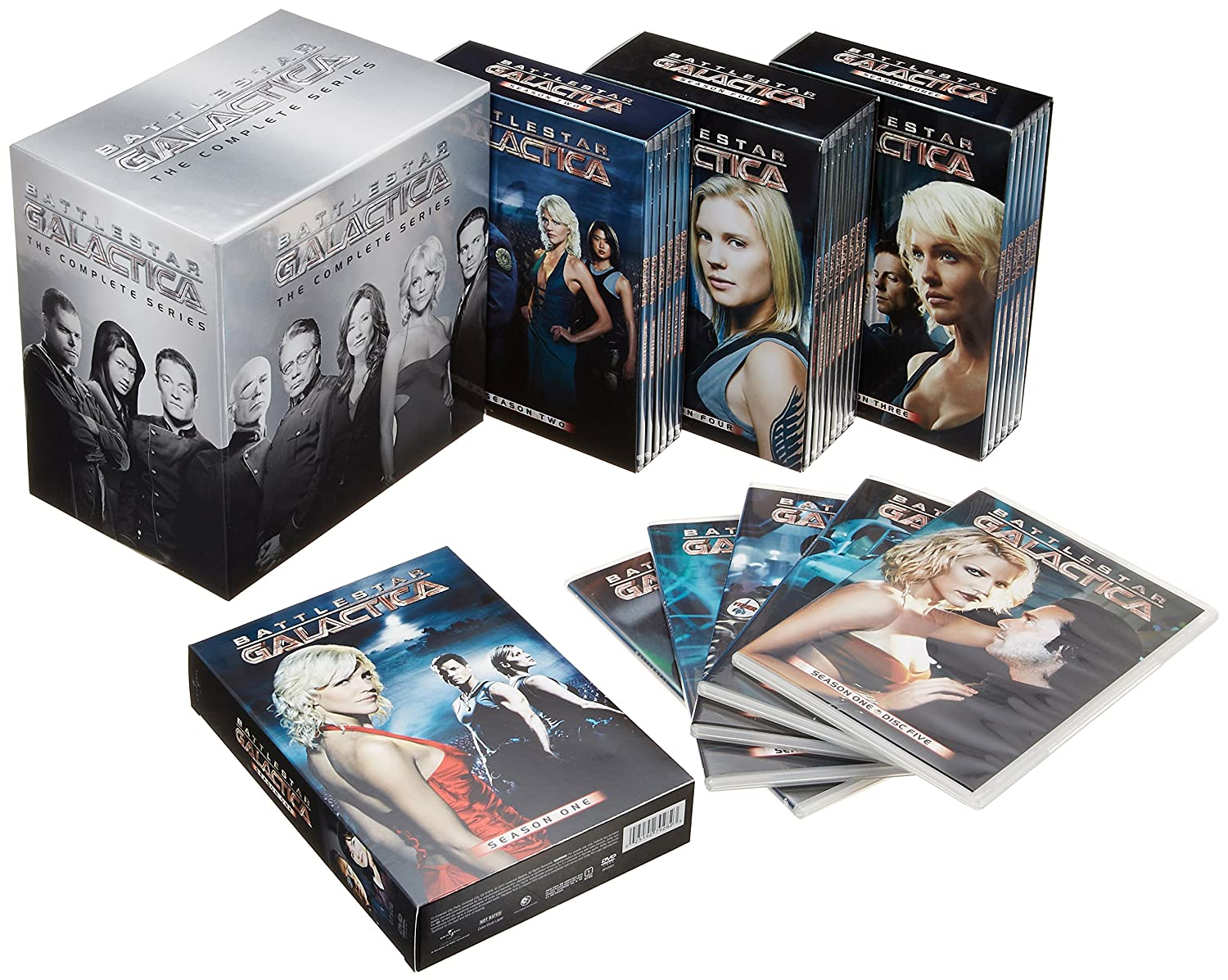 Battlestar Galactica: The Complete Series Edward James Olmos Jamie Bamber Katee Sackhoff Mary McDonnell