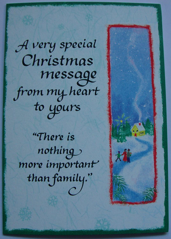 Blue mountain Arts Family Christmas Message Christmas Card: Amazon ...